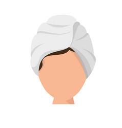 woman in spa vector image