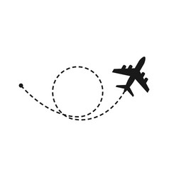world travel and tourism concept airplane flying vector image