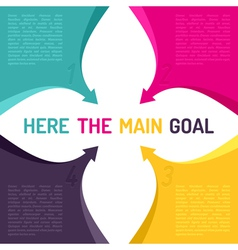 Background with arrows and place for main goal vector image