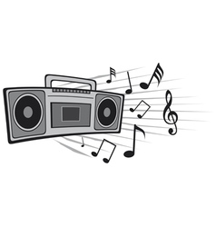 cassette tape recorder vector image vector image