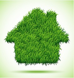 House green grass vector
