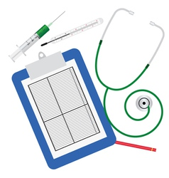medical tools for inspection vector image vector image