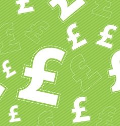 pound money icon on green background vector image vector image