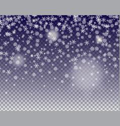 snowflakes fall vector image vector image