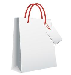 white blank shopping bag vector image