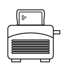 bread toaster isolated icon vector image vector image