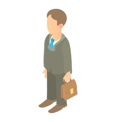 Businessman holding briefcase icon cartoon style vector image vector image