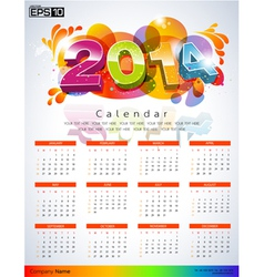 Exclusive New Calendars 2014 vector image vector image
