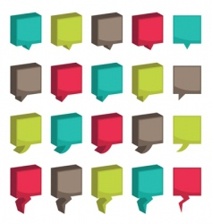 square 3d tabs vector image vector image
