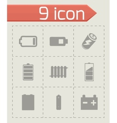 Batery icons set vector
