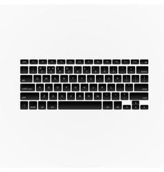Computer keyboard isolated vector image