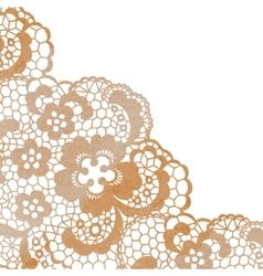 Lacy elegant frame Invitation card vector image vector image