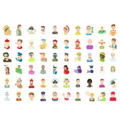 men avatar icon set cartoon style vector image