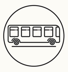 minimal outline bus icon vector image