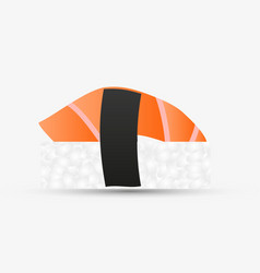 one isolated nigiri sushi with salmon simple icon vector image vector image