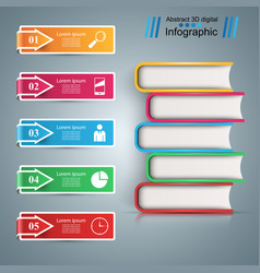 Paper book - business infographic vector