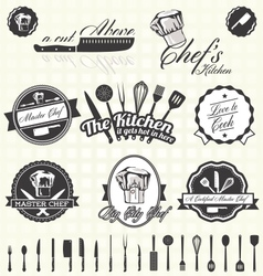 Retro Style Master Chef Labels vector image vector image