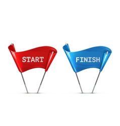 Start and Finish vector image vector image