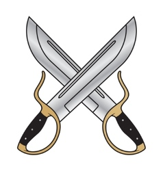 wing chun butterfly swords vector image