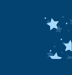 blue background with star design collection vector image