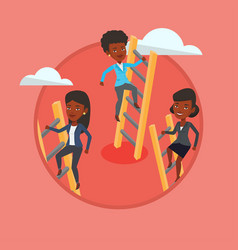 Business people climbing to success vector