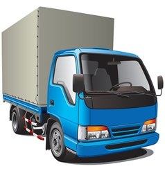 detailed image of small blue truck isolated on whi vector image