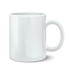 Photorealistic white cup vector image