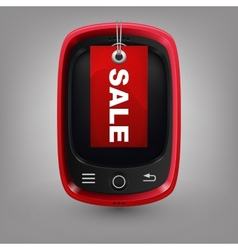 Red phone with labal sale vector image vector image