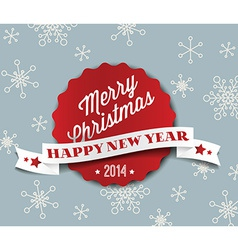 Simple vintage retro Christmas card 2014 vector image vector image