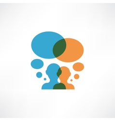 Two persons thinking vector image