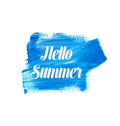 white hello summer lettering vector image vector image