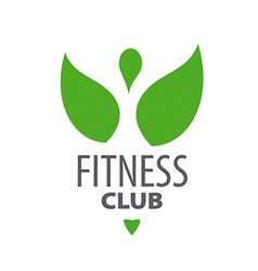 abstract green logo for fitness club vector image
