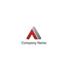 abstract letter a triangle company logo vector image