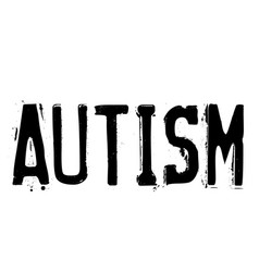 Autism stamp on white vector