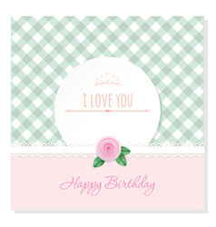 birthday greeting card template round frame on vector image