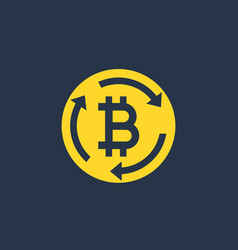 bitcoin exchange icon sign vector image