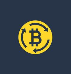 Bitcoin exchange icon sign vector