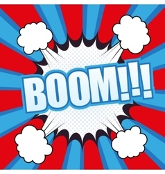 Boom comic cartoon vector