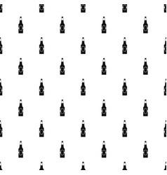 Bottle of beer pattern seamless vector