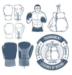 Boxing gloves boxer boxing logos vector