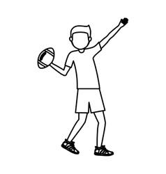 Boy playing football design vector