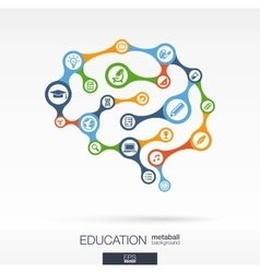 Brain concept for education learning knowledge vector