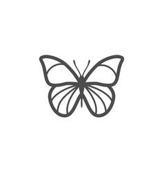 butterfly black icon nature simple vector image