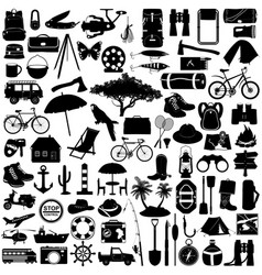 Camping pictograph vector