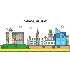 canada halifax city skyline architecture vector image