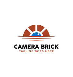 canal waterway brick bridge logo design inspiratio vector image