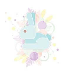 Card happy easter with abstract rabbit in pastel vector
