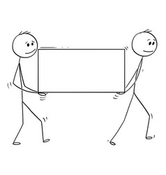 cartoon of two man or businessmen carrying big vector image