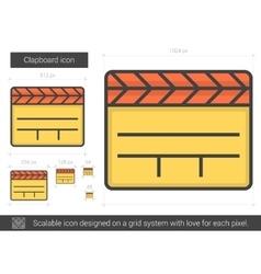 Clapboard line icon vector