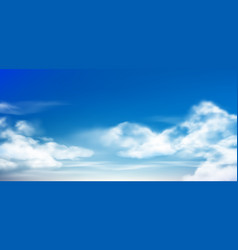 Cloud in blue sky fluffy clouds in cloudy daytime vector